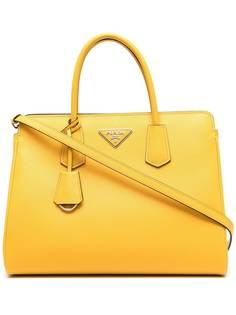 Prada сумка-тоут из сафьяновой кожи