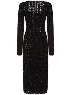 Dolce & Gabbana платье ажурной вязки с квадратным вырезом