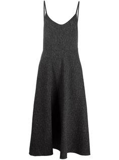 Valentino расклешенное платье на бретелях