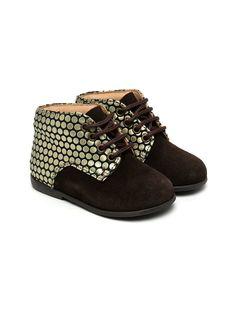 Pèpè ботинки со шнуровкой и эффектом металлик