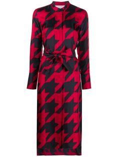 Boss Hugo Boss платье-рубашка в ломаную клетку