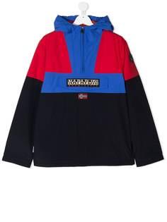 Napapijri куртка с капюшоном и вышитым логотипом