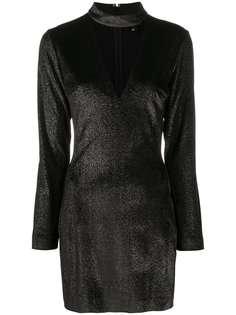 Just Cavalli платье мини с длинными рукавами