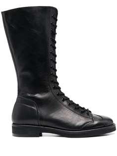 Yohji Yamamoto ботинки в стиле милитари со шнуровкой
