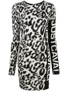 Just Cavalli платье мини с леопардовым принтом