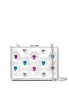 Karl Lagerfeld декорированный клатч с эффектом металлик