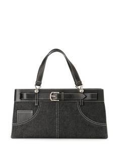 Christian Dior джинсовая сумка-тоут с ремнем