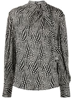 Isabel Marant блузка в горох с завязками на воротнике