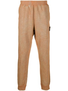 Stone Island спортивные брюки с нашивкой-логотипом