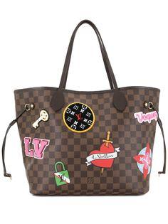 Louis Vuitton сумка-тоут Neverfull 2018-го года с нашивками
