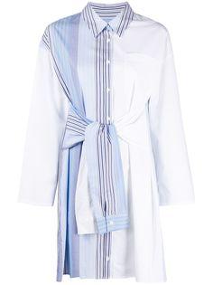 SJYP платье-рубашка в полоску с поясом