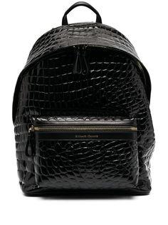 Giuliano Galiano лакированный рюкзак с тиснением под кожу крокодила