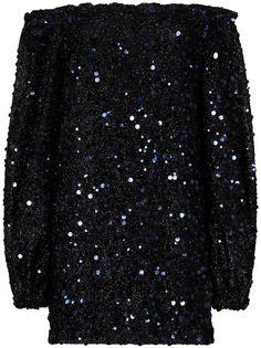 ROTATE платье Gloria с открытыми плечами и пайетками