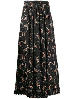 Paco Rabanne юбка миди с цветочным принтом