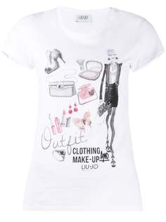 LIU JO футболка с короткими рукавами и стразами