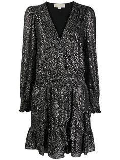 Michael Michael Kors ярусное платье с принтом