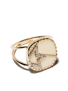 Pascale Monvoisin кольцо Varda Nº2 из желтого золота с бриллиантами