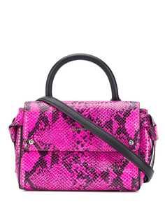 Karl Lagerfeld сумка-тоут с тиснением под змеиную кожу