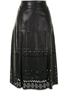 Polo Ralph Lauren юбка миди с перфорацией