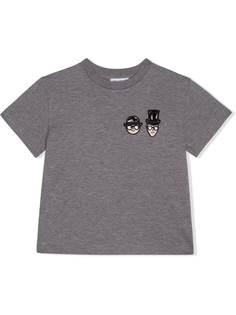 Dolce & Gabbana Kids футболка с вышивкой