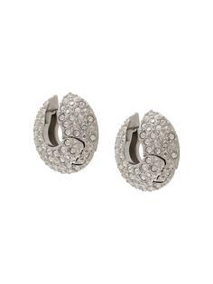 FENTY серьги-кольца с кристаллами