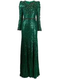 Jenny Packham платье с кристаллами и пайетками