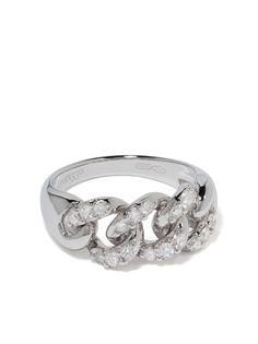 LEO PIZZO кольцо Groumette из белого золота с бриллиантами