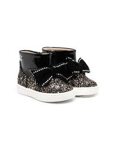 Florens ботинки с бантом и блестками