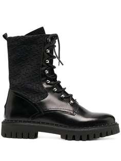 Tommy Hilfiger ботинки в стиле милитари с монограммой