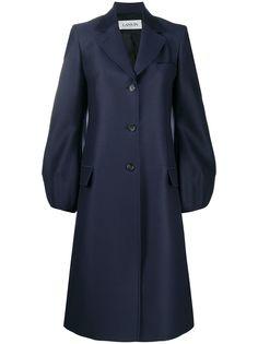 LANVIN однобортное пальто с объемными рукавами