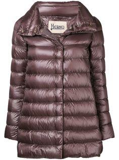 Herno куртка-пуховик с эффектом металлик