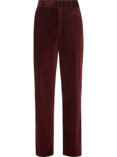 Fendi бархатные брюки чинос прямого кроя