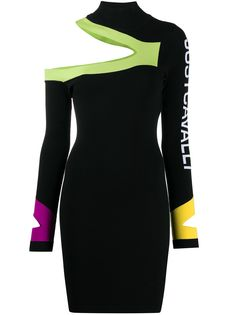 Just Cavalli платье асимметричного кроя в стиле колор-блок
