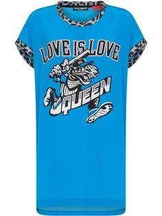 Dolce & Gabbana длинная футболка с надписью