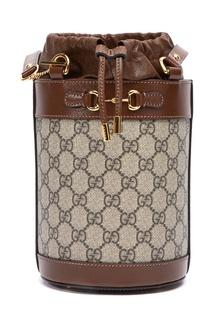 Коричневая сумка-ведро Gucci