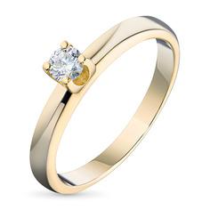 Кольцо из желтого золота с бриллиантом э0301кц04203155 ЭПЛ Якутские Бриллианты