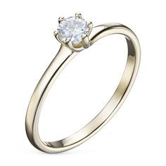 Кольцо из желтого золота с бриллиантом э0301кц08200226 ЭПЛ Якутские Бриллианты