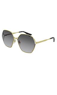 Солнцезащитные очки oval fork - Gucci