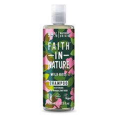 Шампунь для волос FAITH IN NATURE восстанавливающий с маслом дикой розы для нормальных и сухих волос 400 мл