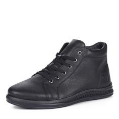 Ботинки Черные ботинки из кожи на меху Rieker
