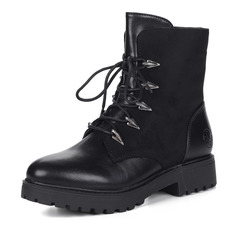 Ботинки Черные ботинки на рифленой подошве Rieker