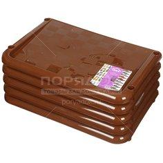 Полка для обуви прямоугольная 5 секций Idea М 2710 коричневая, 49.7х30.7х83.7 см
