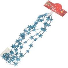 Бусы новогодние Merry Christmas Звездочки SY16-98 голубые, 2 м
