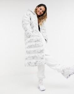 Белая длинная дутая куртка Nike Move To Zero-Белый