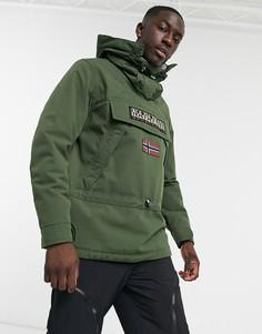 Куртка без застежки цвета хаки Napapijri Skidoo-Зеленый