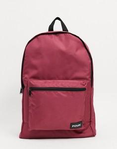 """Бордовый рюкзак с логотипом """"FCUK"""" French Connection-Красный"""