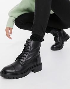 Черные ботильоны со шнуровкой ALDO Reilly-Черный