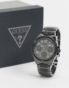 Черные часы с хронографом Guess-Черный
