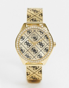 Часы с логотипом Guess-Золотистый