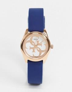 Часы с маленьким циферблатом Guess-Голубой